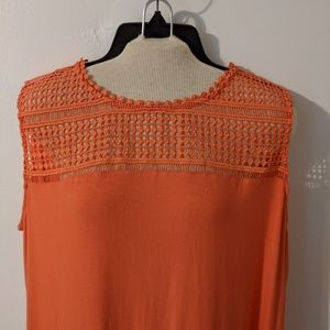 Dress Barn peach sleeveless blouse